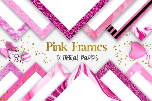 Valentine Pink Frames Background Graphic Backgrounds By PinkPearly