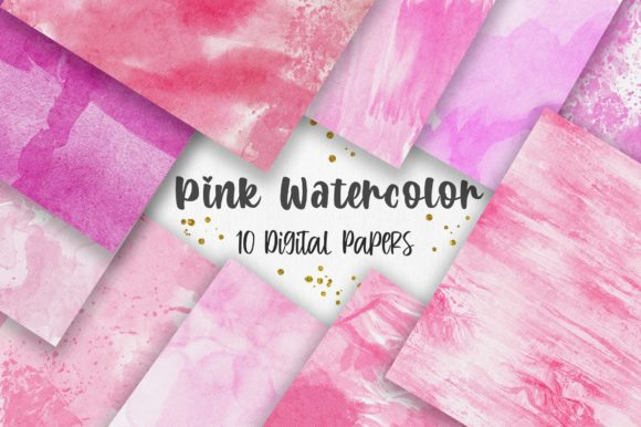 Valentine Pink Watercolor Texture Graphic Backgrounds By PinkPearly