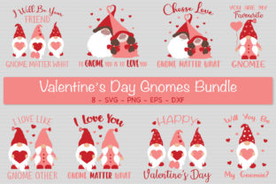 Valentine's Day Gnomes Bundle Svg Graphic Crafts By All About Svg