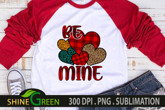 Valentines Sublimation Be Mine Hearts SVG Cut Files
