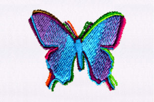 Vibrant Butterfly Design Bugs & Insects Embroidery Design By DigitEMB