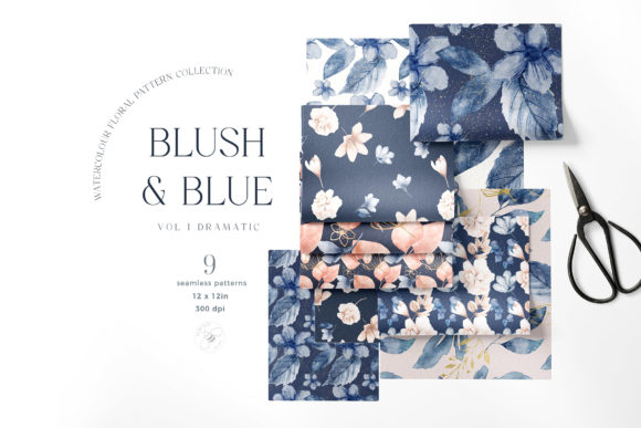 Print on Demand: Watercolor Floral Patterns Flowers Grafik Muster von Busy May Studio
