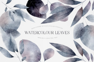 Print on Demand: Watercolor Leaves Illustration Whimsical Graphic Illustrations By Busy May Studio