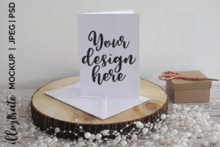 Print on Demand: White Card Mockup |  Stock Photography Graphic Crafts By illuztrate