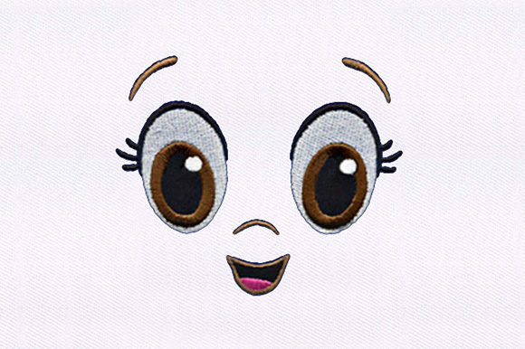 Wide Brown Eyed Girl Boys & Girls Embroidery Design By DigitEMB