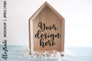Print on Demand: Wooden HouseMockup |  Stock Photography Graphic Crafts By illuztrate
