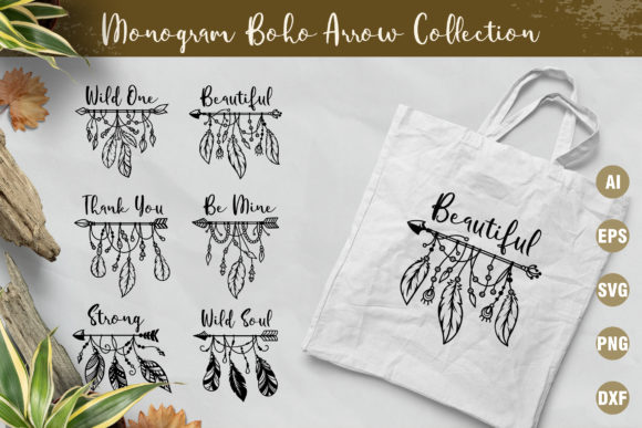 12 Set of Ethnic Boho Arrows Graphic Crafts By AllmoStudio