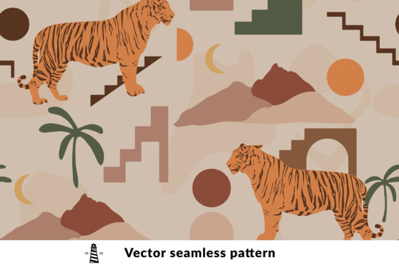 Print on Demand: Abstract Tiger Seamless Pattern Graphic Patterns By northseastudio