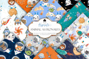 Animal Astronaut Patterns Graphic Patterns By Hippogifts