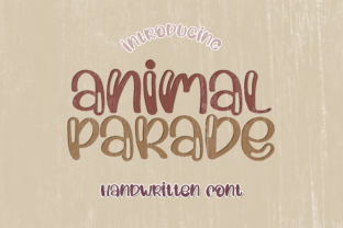 Print on Demand: Animal Parade Display Font By WADLEN