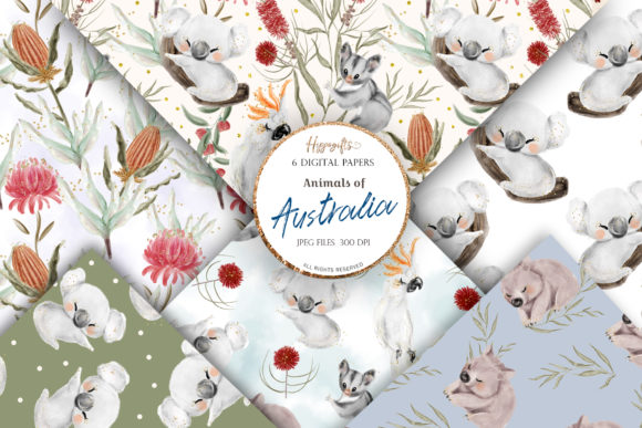 Australia Animals Pattern Graphic Patterns By Hippogifts