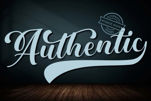 Print on Demand: Authentic Script & Handwritten Font By Doehantz Studio