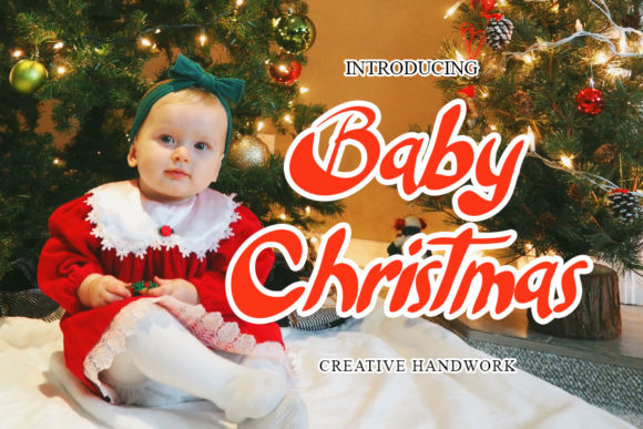 Print on Demand: Baby Christmas Display Font By mizanstudio