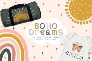 Print on Demand: Boho Dreams Clipart Collection Graphic Illustrations By Christine Fleury