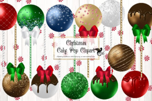 Print on Demand: Christmas Cake Pops Clipart Graphic Illustrations By Digital Curio