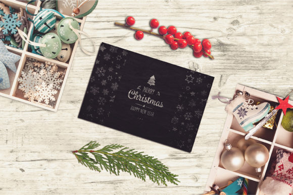 Christmas Card Mockup #14 Graphic Product Mockups By Relineo