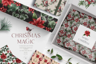Christmas Magic Digital Paper Pack Graphic Patterns By Busy May Studio