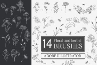 Print on Demand: Floral and Herbal Brushes Graphic Brushes By Светлана Зиновьева