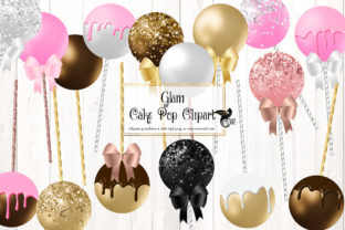 Print on Demand: Glam Cake Pops Clipart Graphic Illustrations By Digital Curio