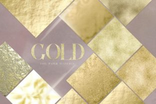 Print on Demand: Gold Foil Digital Pack Gold Texture Graphic Textures By Busy May Studio