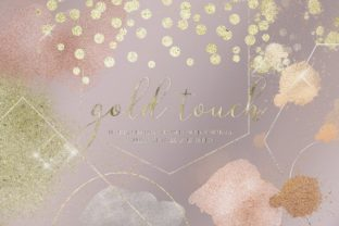 Gold Rose Gold Dust Confetti PNG Frames Graphic Illustrations By Busy May Studio