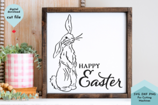 Print on Demand: Happy Easter Floppy Bunny Graphic Crafts By Lettershapes