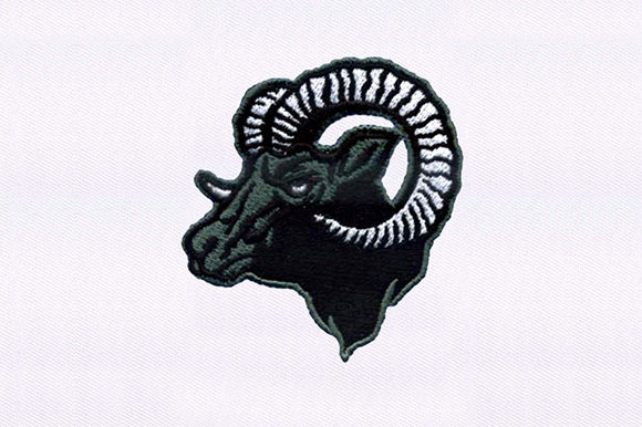 Horned Ram Sheep Farm Animals Embroidery Design By DigitEMB