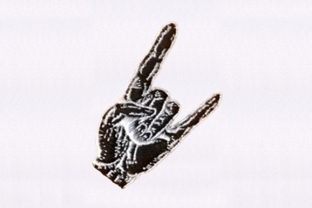 Horns Hand Sign Friends Embroidery Design By DigitEMB