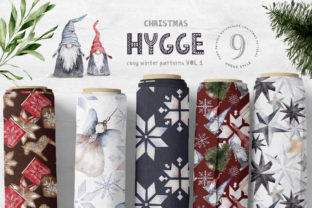 Print on Demand: Hygge Christmas Digital Paper Pack Graphic Patterns By Busy May Studio