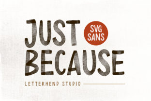 Print on Demand: Just Because Display Font By letterhend