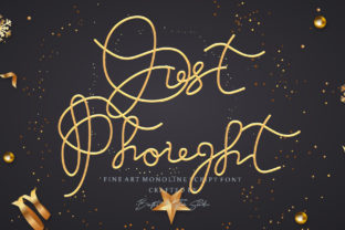 Print on Demand: Just Thought Script & Handwritten Font By brightrhythmstudio