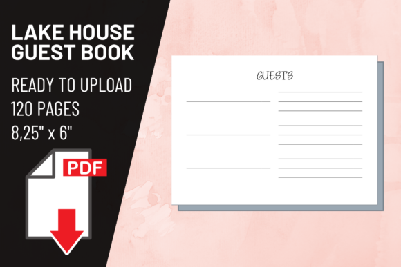 Print on Demand: KDP Interior Lake House Guest Book Graphic KDP Interiors By atlasart