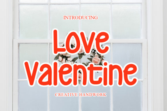 Print on Demand: Love Valentine Display Font By mizanstudio