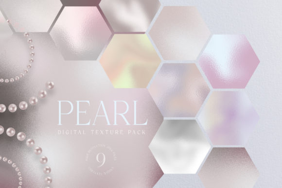 Print on Demand: Pearl Texture Digital Paper Pack Shiny Graphic Illustrations By Busy May Studio
