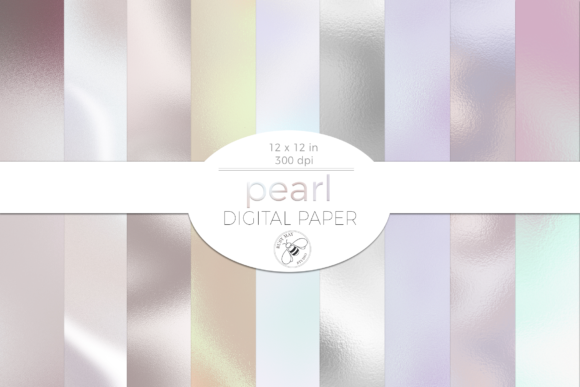Pearl Texture Digital Paper Pack Shiny Graphic Design