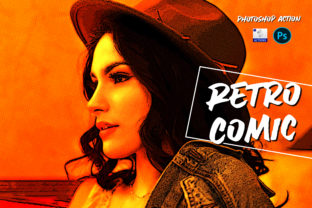 Retro Comic | PSD Action Graphic Actions & Presets By Gumacreative 1