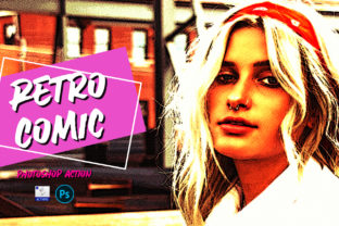 Retro Comic | PSD Action Graphic Actions & Presets By Gumacreative 4