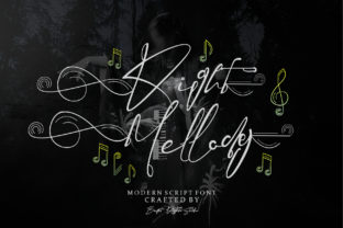 Print on Demand: Right Mellody Script & Handwritten Font By brightrhythmstudio