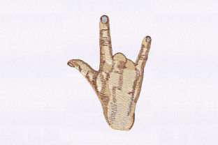 Rock on Hand Sign Music Embroidery Design By DigitEMB