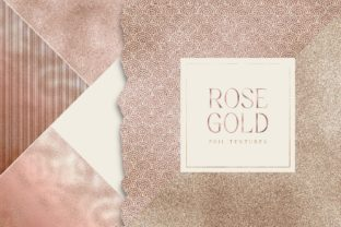 Print on Demand: Rose Gold Foil Digital Pack Gold Texture Graphic Textures By Busy May Studio