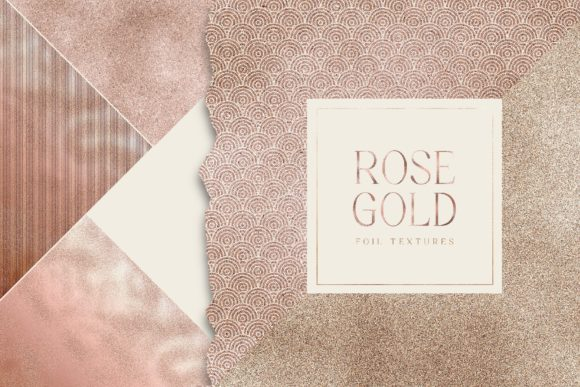 Rose Gold Foil Digital Pack Gold Texture Graphic Textures By Busy May Studio