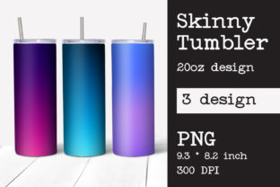 Skinny Tumbler Sublimation Ombre Design Graphic Print Templates By KundolaArt