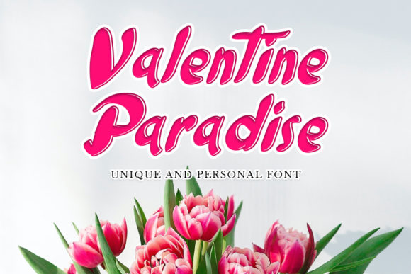 Print on Demand: Valentine Paradise Script & Handwritten Font By mizanstudio