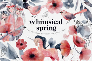 Print on Demand: Watercolour Whimsical Spring Collection Graphic Illustrations By Busy May Studio