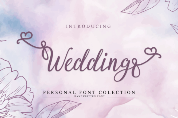 Print on Demand: Wedding Script & Handwritten Font By dazzlinggleam