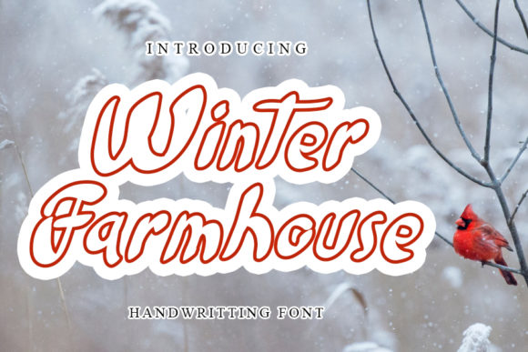 Print on Demand: Winter Farmhouse Display Font By mizanstudio