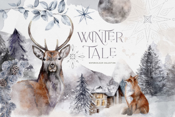 Winter Illustrations Clip Art Watercolor Graphic Illustrations By Busy May Studio