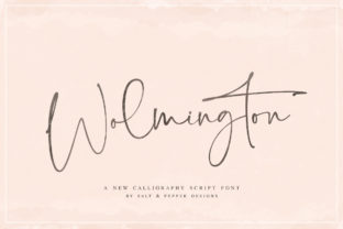 Print on Demand: Wolmington Script & Handwritten Font By Salt & Pepper Designs
