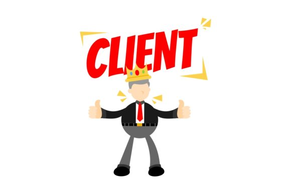 Client King Businessman People Cartoon Graphic Illustrations By Ardwork
