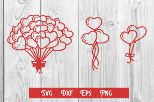 Print on Demand: Heart Balloons Cut File, Sublim Print Graphic Print Templates By dadan_pm